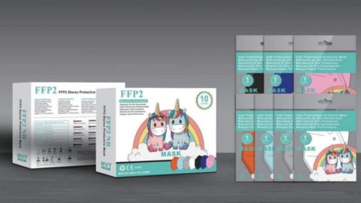 ffp2 bambino unicorno