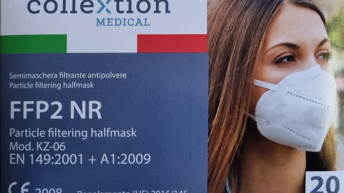 mascherine ffp2 adulti collextion medical
