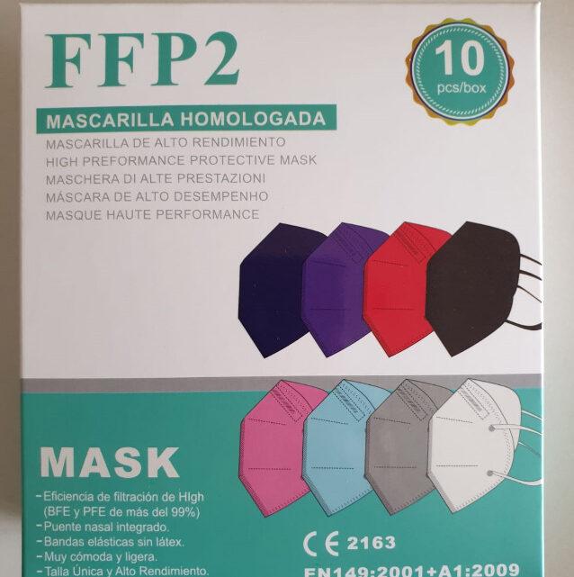 mascherine ffp2 multicolor