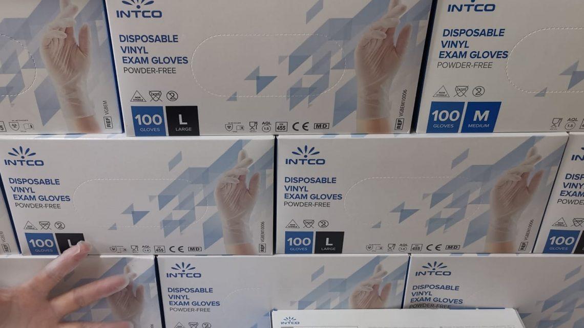 Guanti INTCO in vinile senza polvere