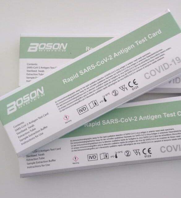 Boson Rapid Sars-Cov-2 antigen test card